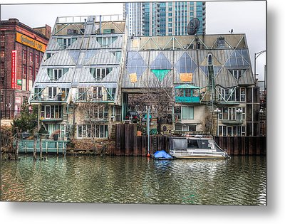 Cottages On The River Metal Print