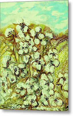 Cotton ... A Way Of Life Metal Print by Eloise Schneider