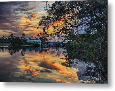 Metal Print featuring the digital art Cotton Bayou Sunrise by Michael Thomas