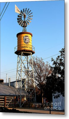 Cotton Belt Route Water Tower In Grapevine Metal Print by Kathy  White