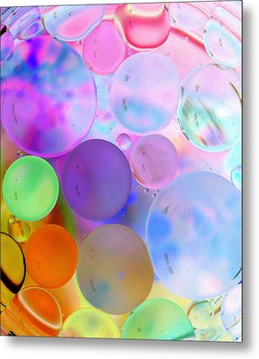 Cotton Candy Bubbles Metal Print by Christine Ricker Brandt