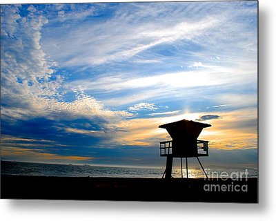 Metal Print featuring the photograph Cotton Candy Sky by Margie Amberge