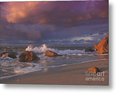 Cotton Candy Sunset Metal Print by Amazing Jules