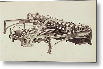 Cotton Machinery Metal Print by British Library