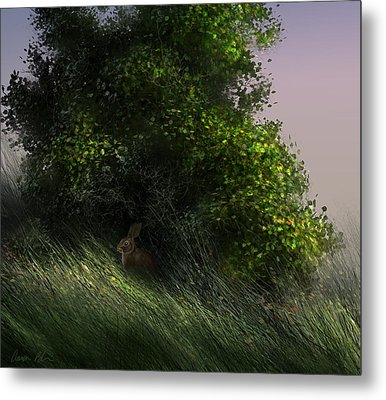 Metal Print featuring the digital art Cottontail by Aaron Blaise