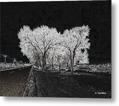 Metal Print featuring the digital art Cottonwood Frost by Aliceann Carlton
