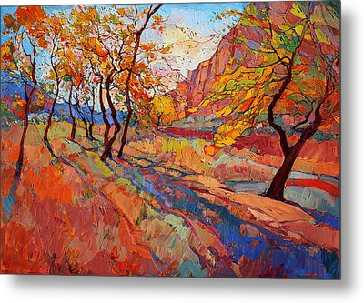 Cottonwood Shadow Painting By Erin Hanson