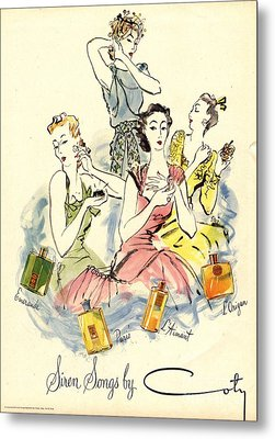 Coty 1940s Uk Womens Metal Print by The Advertising Archives