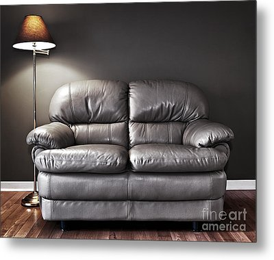 Couch And Lamp Metal Print by Elena Elisseeva