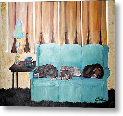 Couch Potatoes Metal Print by Gail Daley