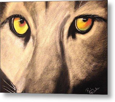 Cougar Eyes Metal Print