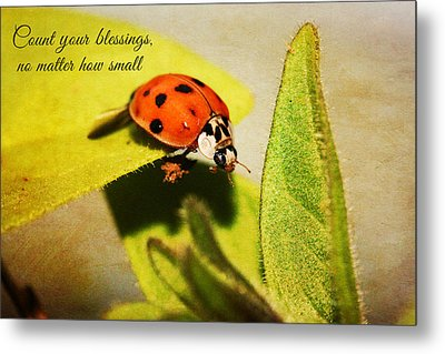 Count Your Blessings Metal Print