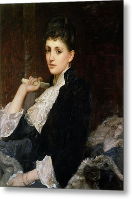 Countess Of Airlie Metal Print by Sir William Blake Richmond