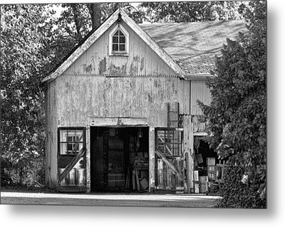 Country - Barn Country Maintenance Metal Print by Mike Savad