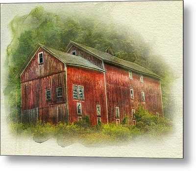 Country Barn Metal Print by Kathleen Holley