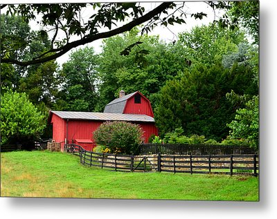 Metal Print featuring the photograph Country Barn Vineyard by Cathy Shiflett