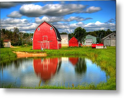 Country Barnyard Metal Print by Larry Trupp