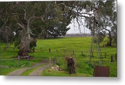 Country Bridge Metal Print