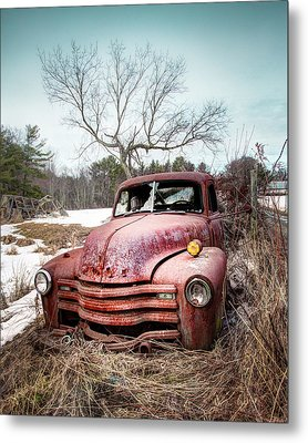 Country Chevrolet - Old Rusty Abandoned Truck Metal Print by Gary Heller