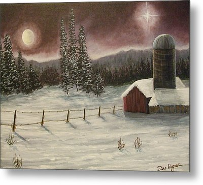 Metal Print featuring the painting Country Christmas by Dan Wagner