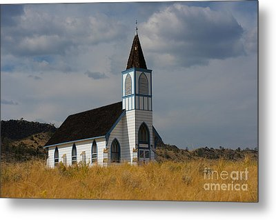 Country Church Metal Print by Birches Photography