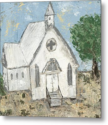 Country Church Metal Print by Kirsten Reed
