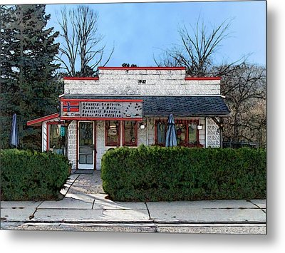 Metal Print featuring the digital art Country Comforts In Scandinavia Wisconsin by David Blank