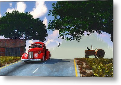 Country Cruise Metal Print