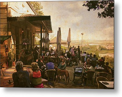 Metal Print featuring the painting Country Estate Slavante By Briex by Nop Briex