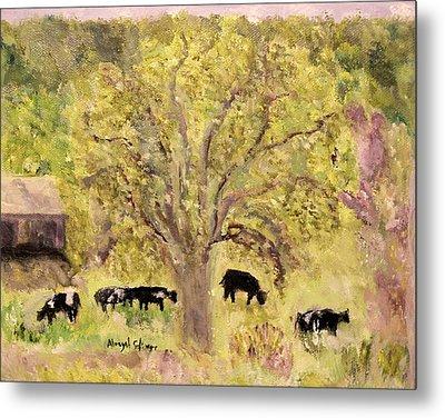 Country Farm Metal Print by Aleezah Selinger