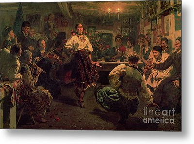 Country Festival Metal Print by Ilya Efimovich Repin