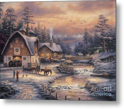 Country Holidays 2 Metal Print by Chuck Pinson