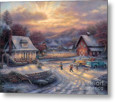 Country Holidays Metal Print by Chuck Pinson