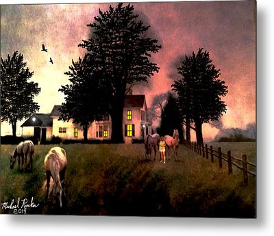 Country Home Metal Print by Michael Rucker