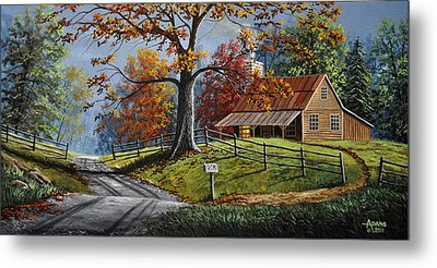 Country Life Metal Print by Gary Adams
