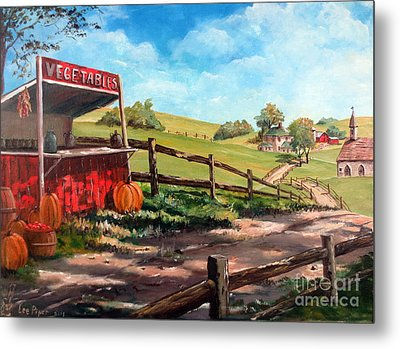 Country Life Metal Print by Lee Piper