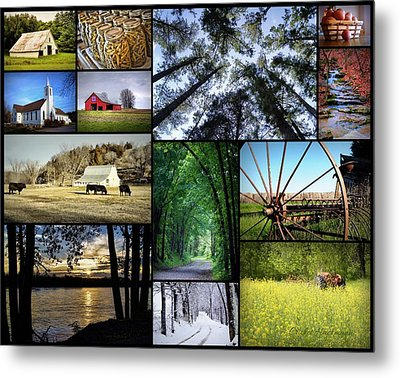 Country Living Metal Print by Cricket Hackmann