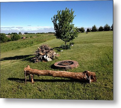 Country Living Is The Life For Me Metal Print