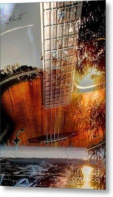 Country Music Digital Guitar Art By Steven Langston Metal Print