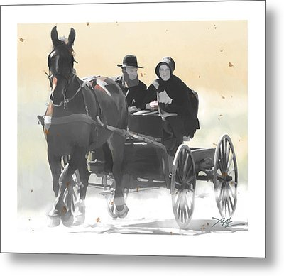 Metal Print featuring the painting Country Ride by Bob Salo