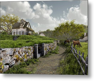 Country Road Metal Print by Cynthia Decker