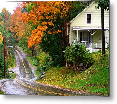 Country Road Metal Print by George Cousins
