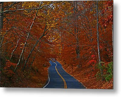 Metal Print featuring the photograph Country Road by Andy Lawless