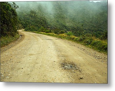 Country Road In Colombia Metal Print by Jess Kraft