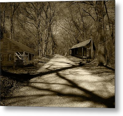 Metal Print featuring the photograph Country Road In Sepia by Cecil Fuselier