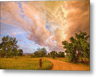 Country Road Into The Storm Front Metal Print by James BO  Insogna