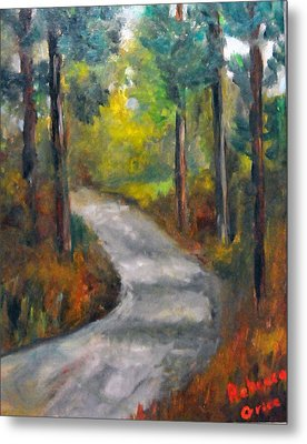 Country Road Metal Print by Rebecca Grice
