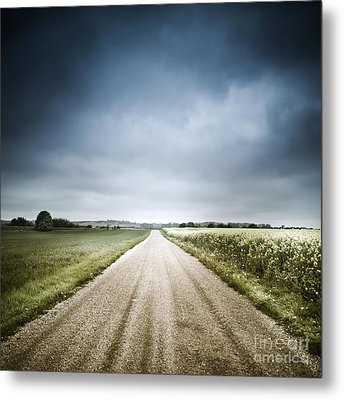 Country Road Through Fields, Denmark Metal Print by Evgeny Kuklev