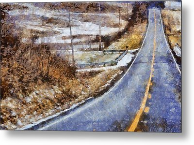 Country Roads In Ohio Metal Print