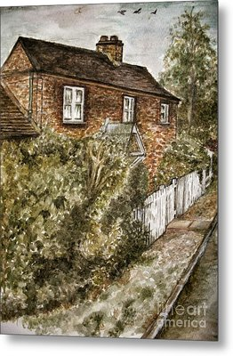 Old English Cottage Metal Print by Teresa White